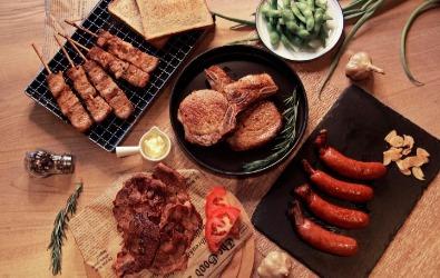 適合 3-5 人的「經典肉肉 烤肉組」 ,六件組,優惠價$999